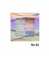 NOVO Colorful Eyeshadow No.02 ราคาส่งถูกๆ W.75 รหัส ES412-2