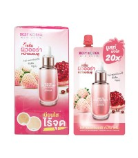 best korea white strawberry pomegranate serum แบบซอง (ขายเป็นกล่อง) W.125 รหัส S159