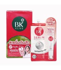 BK Acne Serum Brightening Anti - Pollution เซรั่มสิว คุมมันกันสิว 12 ชม. แบบซอง (ขายเป็นกล่อง) W.110