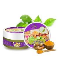 สปาบ้านทุ่ง สครับสมุนไพรไทย Gold Colour Herbal Scrub By งามพริ้ง 290 g. ราคาส่งถูกๆ W.310 รหัส BD250