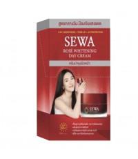 [ขายยกกล่อง]Sewa Rose Whitening Day Cream เซวา ครีมบำรุงผิวหน้าสำหรับกลางวัน W.120 รหัส.S214