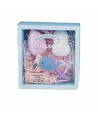 ฟองน้ำแต่งหน้า Makeup Sponge Baby Skin Blender ฟองน้ำแต่งหน้า+ที่ปัดแก้ม Anguoer Set สุดคุ้ม สัมผัสน
