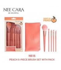 EM351 nee cara be colorful peach 5 piece เซตแปรงพีช  W.150 รหัส EM351