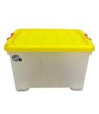 กล่องพลาสติกมีล้อ โมเดิล S023/100 ลิตร