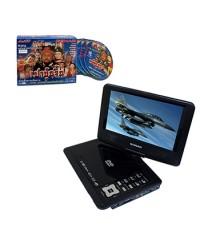 Sonar DVD เครื่องเล่นดีวีดีพกพาจอ 9 นิ้ว รุ่น PD-923 TV(สีดำ)+VCD เปาปุ่นจิ้น ตอนแผนลวงครองอำนาจ1ชุด