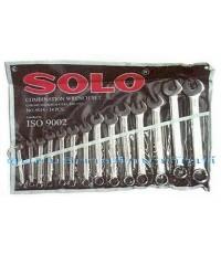 ประแจแหวนข้างปากตายข้างทรงเยอรมัน 14 ตัว/ชุด SOLO