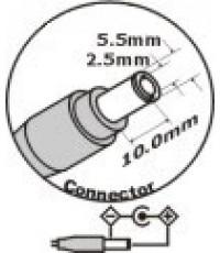 Adapter Notebook สำหรับ Compaq/HP = 19.0 V  4.74 A (2.5mm) รับประกัน 6 เดือน