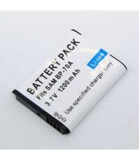 แบตเตอรี่สำหรับกล้อง Samsung รหัสแบตเตอรี่ SLB-BP70+ ความจุ 1200mAh (Battery Camera)