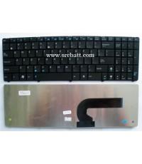 Keyboard Notebook Asus รุ่น G51 G53 G60 G72 G73 N50 N61 (AS-19) คีย์บอร์ดโน๊ตบุ๊ค แถมสติ๊กเกอร์