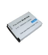 แบตเตอรี่ สำหรับกล้องดิจิตอล Samsung รหัสแบตเตอรี่ SLB-10A ความจุ 1050mAh (Battery Camera)