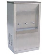 ตู้น้ำเย็นสแตนเลส 3 ก๊อก (ต่อท่อ) (หน้าเว้า) ยี่ห้อ MAXCOOL รุ่น MC-3P แกนทองเหลือง