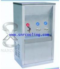 ตู้น้ำร้อน-น้ำเย็น 3 ก๊อก ต่อท่อ(หน้าเว้า) ยี่ห้อ Maxcool รุ่น MCH-3P (เย็น 2+ร้อน 1) แกนทองเหลือง