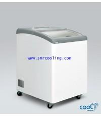ตู้แช่แข็ง ฝากระจกโค้ง ยี่ห้อ The Cool รุ่น TC-153CG (4.8 คิว)