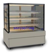 ตู้แช่เค้ก แบบกระจกเหลี่ยม ยี่ห้อ Sanden Intercool รุ่น SKS-1207Z