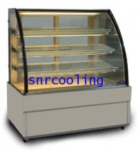 ตู้แช่เค้ก แบบกระจกโค้ง  ยี่ห้อ Sanden Intercool รุ่น SKK-1507Z