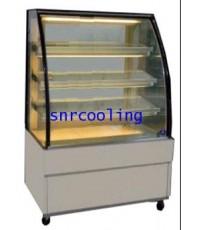ตู้แช่เค้ก แบบกระจกโค้ง ยี่ห้อ Sanden Intercool รุ่น SKK-0707Z