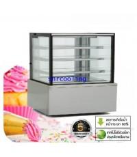 ตู้แช่เค้กแบบกระจกเหลี่ยม ยี่ห้อ Fresher รุ่น FR-1800SQ (1,175 ลิตร/41.5 คิว)