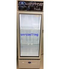 ตู้แช่เย็น กระจก 1 ประตู ยี่ห้อ Sanden Intercool รุ่น SPA-0253D41A (9.5 คิว/267 ลิตร)