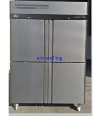 ตู้แช่สแตนเลส ฝาทึบ 4 ประตู (เกรด 304) ยี่ห้อ Sanden Intercool รุ่น SRF3-1327AS (1,310 ลิตร) แช่แข็ง