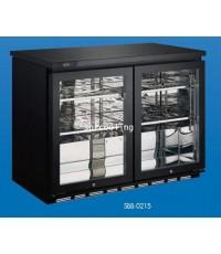 ตู้แช่เย็น กระจก 2 ประตู ยี่ห้อ Sanden Intercool รุ่น SBB-0215 (7.4 คิว / 210 ลิตร)
