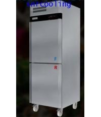 ตู้แช่สแตนเลส ฝาทึบ 2 ประตู (เกรด 304) ยี่ห้อ Sanden รุ่น SRD3-0687AS (590 ลิตร) แช่เย็นและแช่แข็ง