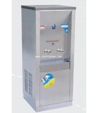 ตู้ทำน้ำเย็น แบบ ต่อท่อประปา MAXCOOL แม็คคูล รุ่น MC-2PW (ก๊อกตุ๊กตา) แบบแผงความร้อน AIAXX