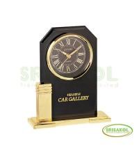 นาฬิกาตั้งโต๊ะ  ฐานสีทอง รหัส  A1728-4C/2 เรือนดำ