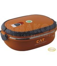 กล่องใส่ข้าว 1 ชั้น นำเข้า รหัส A1905-2I(สีส้ม)