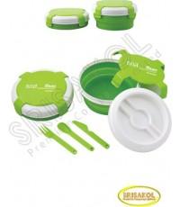 กล่องใส่ข้าว  นำเข้า รหัส A1904-11I (สีเขียว)