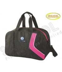 กระเป๋าเดินทาง สีดำ สลับ สีบานเย็น รหัส A1835-9B