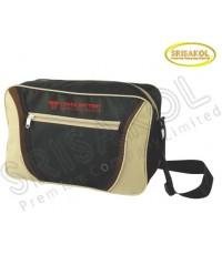 กระเป๋าสะพาย สีดำ สลับ สีกากี  รหัส A1836-14B