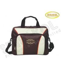 กระเป๋าใส่เอกสาร สีน้ำตาล สลับ สีครีม รหัส A1825-3B