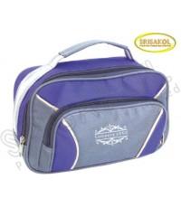 กระเป๋าหิ้วเล็ก สีม่วง สลับ สีเทา  รหัส A1826-4B
