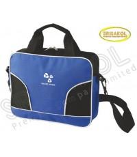 กระเป๋าใส่เอกสาร สีน้ำเงิน สลับ สีดำ  รหัส A2008-15B