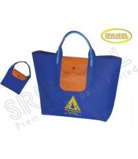 กระเป๋าช้อปปิ้งพับเก็บได้  สีน้ำเงิน รหัส A2005-19B