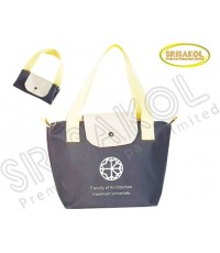 กระเป๋าช้อปปิ้งพับเก็บได้  สีเทาเข้ม รหัส A2022-2B
