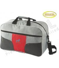 กระเป๋าเดินทาง สีเทาอ่อน สลับ สีเทาเข้ม/แดง รหัส A2010-13B