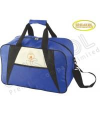 กระเป๋าเดินทาง สีน้ำเงิน สลับ สีดำ/ครีม รหัส A2010-19B