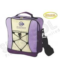กระเป๋าสะพาย สีม่วง สลับ สีครีม รหัส A2006-7B