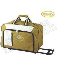 กระเป๋าเดินทางมีล้อลาก สีน้ำตาล สลับ สีขาว รหัส A2007-10B