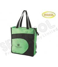 กระเป๋าช้อปปิ้ง สีเขียว สลับ  สีดำ รหัส A2024-6B