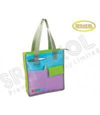 กระเป๋าช้อปปิ้ง สีเขียว สลับ สีฟ้า/ม่วง  รหัส A2024-3B