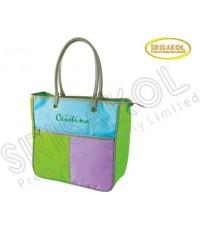 กระเป๋าช้อปปิ้ง สีเขียว สลับ สีฟ้า/ม่วง  รหัส A2024-4B