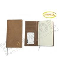 สมุด Diary/Note A8 มีช่องใส่นามบัตร (ปก PU ถอดได้)  รหัส A1918-17D