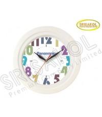 นาฬิกาแขวน 11 นิ้ว  ขอบสีขาว รหัส A2044-6C