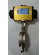 หัวขับลมพร้อมบัตเตอร์ฟลายวาล์วสแตนเลท(Pnumatic Actuator)