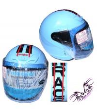 หมวกกันน๊อคRACE (สีฟ้า)