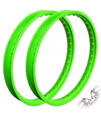 ล้อสะท้อนแสง HURRICANE 1.40-17 สีเขียวล้วน
