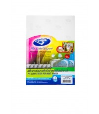 สติ๊กเกอร์INKใส A4 120 แกรม (แพ็ค 10 แผ่น) BOS QSPVC10