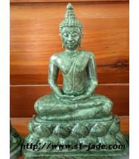 พระพุทธรูปแกะสลักหินเขียวอินเดีย